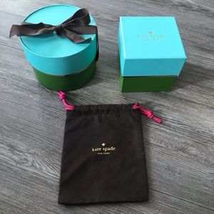 KATE SPADE | EMPTY JEWELRY GIFT STORAGE BOXES BAG